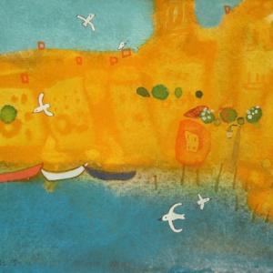 イタリア風景「みんなであそぼ」ヴェネチア2019年 水彩画のご紹介です。