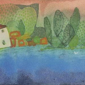 イタリア風景「おとなりさん」ヴェネチア2019年 水彩画のご紹介です。
