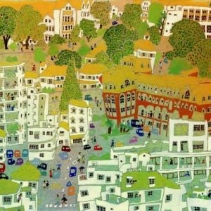 日本の風景「オランダ坂のある町」長崎2016年 水彩画のご紹介です。
