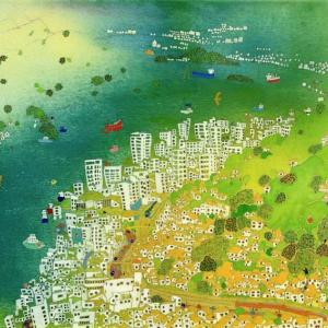 広島の風景「ティティン ティティン」2017年 水彩画