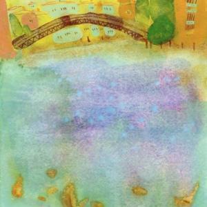 イタリア風景画「アカデミア橋」ヴェネチア2017年 水彩画