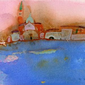 イタリア風景「サンジョルジョ」ヴェネチア2018年 水彩画のご紹介です。