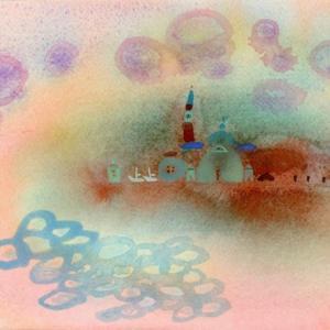 イタリア風景「まるい気持ち」ヴェネチア2018年 水彩画のご紹介です。