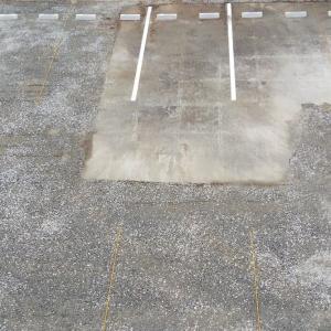 団地公園を駐車場に整備工事終了