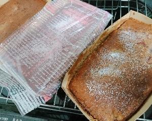 紅茶と苺の米粉パウンドケーキ