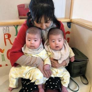 【初孫twinsの三ヶ月検診】☆エコーもとるんですね~。