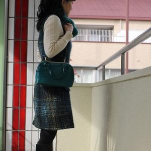 【今日の服】あったかジャンパースカートとブーツのコーディネート(+コート)&カトルカール