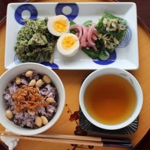 新米すすむ系レシピ。ゆで卵のにんにく醤油漬けとか、青のりまぶしの豚肉とか。詳しくはCPDにて。
