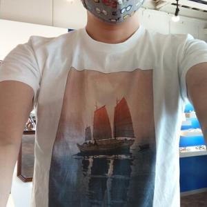 7月19日~26日の混雑状況 吉田博の「帆船 朝」Tシャツ
