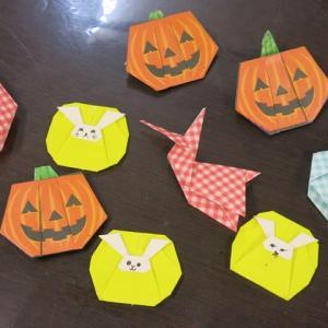ハロウィン折り紙。