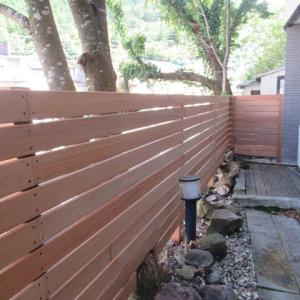 フェンスをリニューアル@ケアホテル松の家塩原温泉