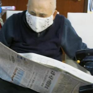 新聞を楽しむ。
