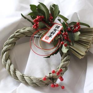 今年のお正月しめ縄飾りは『100円リメイク』と野山のおすそ分け♪