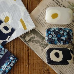 【予告】マリメッコ生地で作るオシャレなデコパージュ石鹸。布棚に仲間入り♪