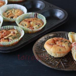 生姜がほんのり香る。混ぜて焼くだけ!ホットケーキミックスで簡単「お食事マフィン」♪