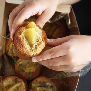 バター不使用でお手軽。簡単ヘルシー「ごまとりんごのマフィン」朝ごはんにもおやつにも。