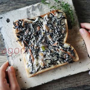 材料は食パン・マヨ・ひじき煮の3つだけ!簡単「ひきじマヨトースト」アレンジトースト。