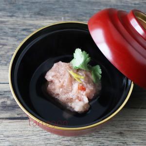 シニア料理教室で大人気だった蓮根と海老のしんじょ、もちもち食感。喉にもいいしね!