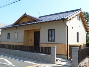 和風の平屋建て住宅