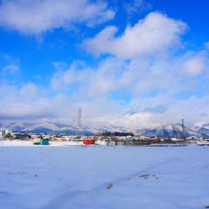 雪景色は青空だね!