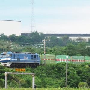 2021年9月9日 山陽線 56レ EF210下交差型パンタ更新色桃太郎付+福山通運,115系