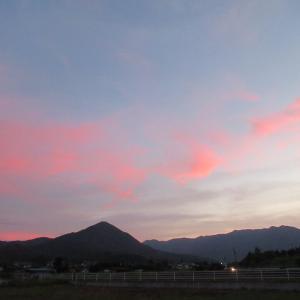 夫神岳の夕焼けが綺麗~