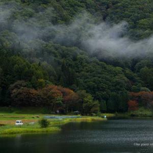 雨でしっとり中綱湖