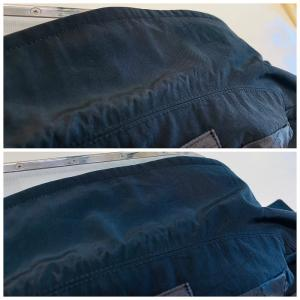 お洋服の色(色素)は皮脂汚れの除去時に汚れと一緒に弱っている色が取れて無くなってしまうかもです。