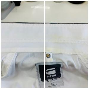 襟の黄ばみ等は保管中に条件によっては後から数年かけて浮き出てくる事もあります