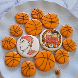 スラムダンクのアイシングクッキー