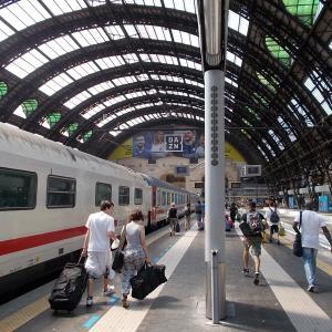 ミラノ到着、サンシーロスタジアム(SAN SIRO Stadio)駅へ行く。