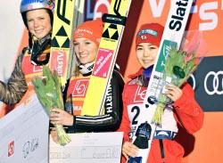 スキージャンプ女子W杯第3戦(2017-2018)高梨選手3位 伊藤選手5位  勢藤選手19位 岩渕選手26位