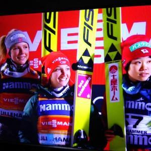 スキージャンプ女子W杯第2戦(2017-2018)伊藤選手3位 高梨選手4位 勢藤選手13位 岩渕選手19位