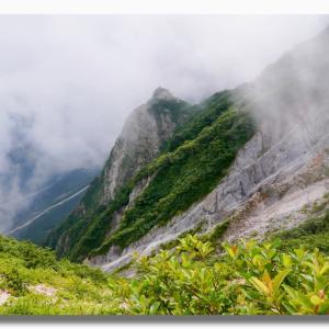 残暑の大山夏山登山道を登る