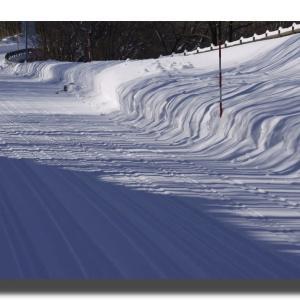 1-2 笹ヶ平附近で雪の東大山を展望