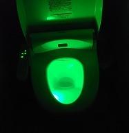 色の変わるトイレ