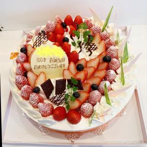 BIGサイズ!10号のイチゴいっぱいケーキ♡記念日に特別なデコレーションケーキ♬