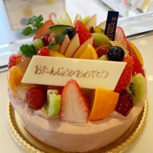 フルーツいっぱい♡記念日に特別なデコレーションケーキ♬チョコバージョン♬