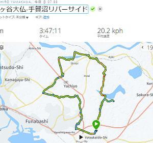 9月21日 鎌ヶ谷大仏-手賀沼リバーサイド練75km