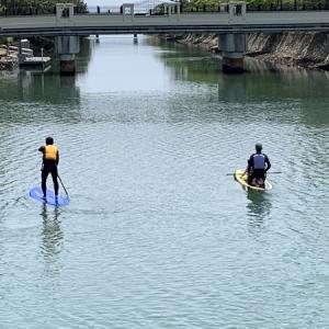 浜名湖水路でサップ