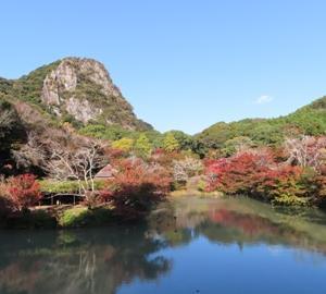 【九州1泊2日の旅⑫】佐賀 「御船山楽園」の紅葉と粉茶と串団子のセット