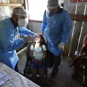 ブラジルにおけるコロナ感染者、100万人を超える(6月20日)