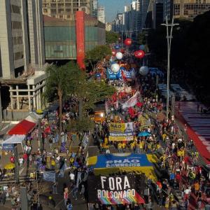 ブラジル:500都市60万人が反ボルソナロデモ(7月25日)