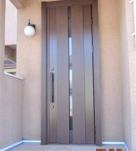 【施工事例】四街道市 玄関ドア・玄関アプローチタイルリフォーム