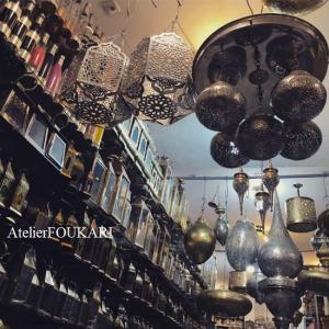 モロッコランプの本場でようやく見つけた自宅用ランプ