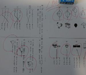年中児 四谷大塚全国小学生統一テスト1年生国語やってみた
