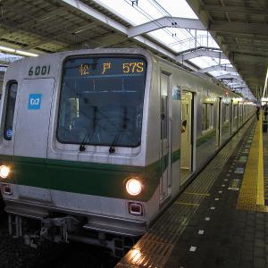 東京メトロ6000系(サークルE) 東京メトロ千代田線松戸行き
