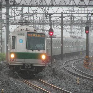 東京メトロ6000系 JR東日本常磐線明治神宮前行き行き