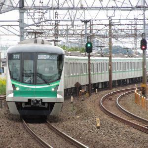 東京メトロ16000系 JR東日本常磐線各駅停車唐木田行き(白)