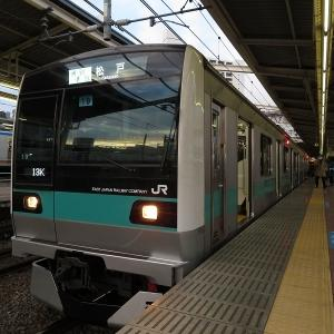 JR東日本E233系2000番台 小田急小田原線通勤準急松戸行き